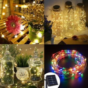Solar-33Ft-100-LED-String-Lights-5-10-20m-Waterproof-Fairy-Xmas-Garden-Decor