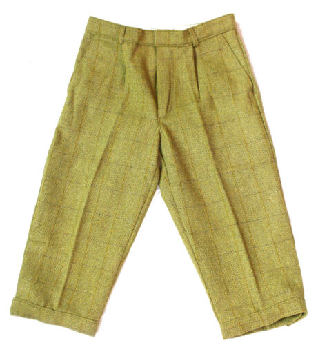 "Mens Derby Tweed Breeks PLUS Fours Calzoncini Country Wear 2 COLS Pantaloni 30-46 /"""