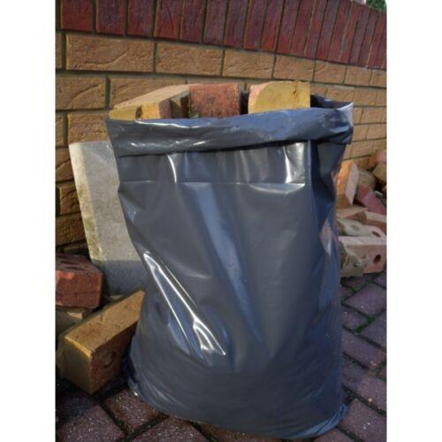Säcke Bauarbeiter Müll 30kg Extra Stark Heavyduty Schwarz Schutt Beutel