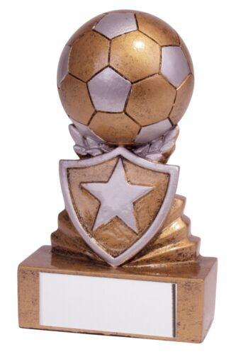 Football trophées Résine Mini Shield FOOTBALL BALLON TROPHÉE 95 mm gravure gratuite