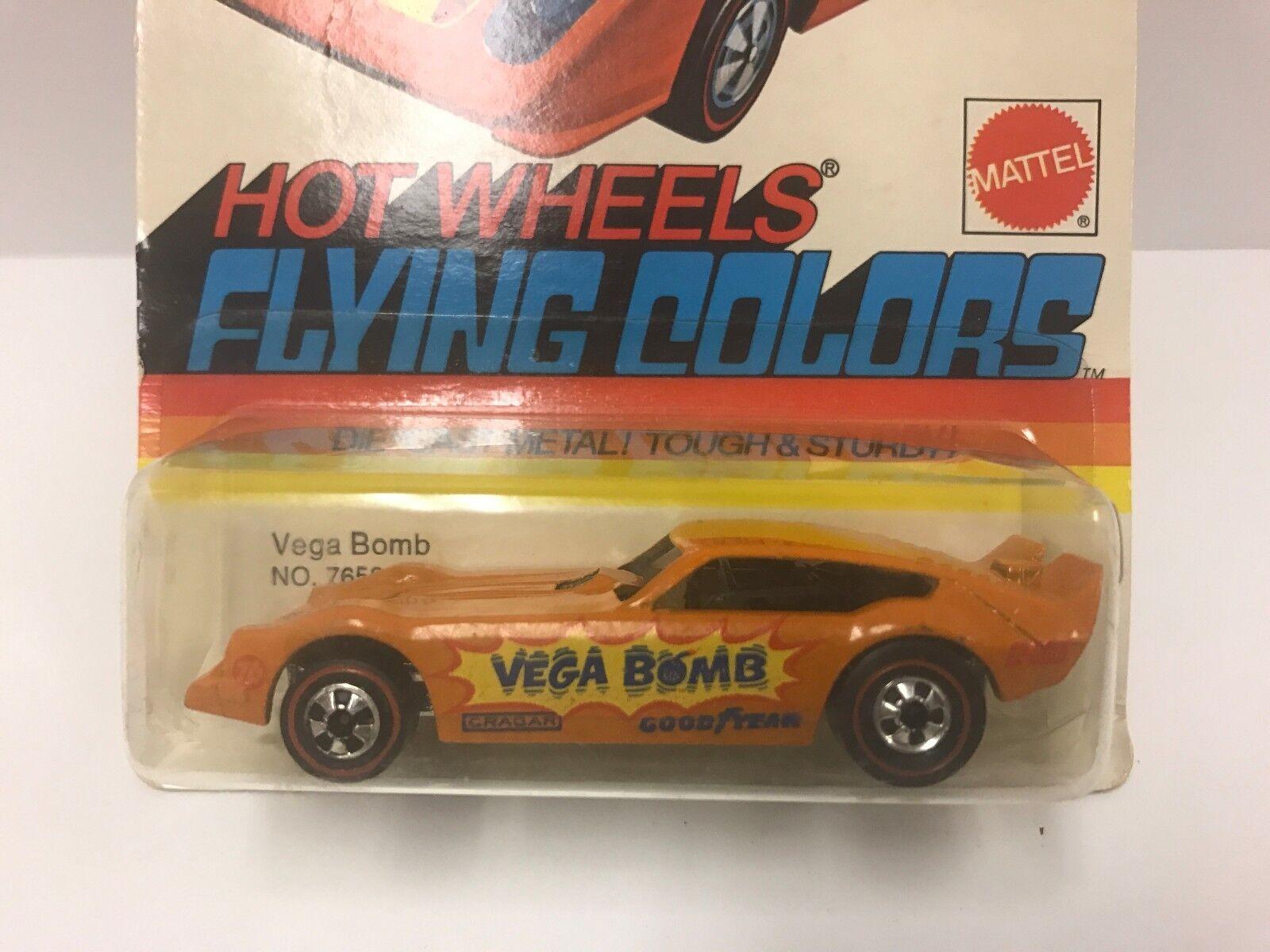 Hot wheels rougeline VEGA bombe Orange Menthe sur non perforé Carte