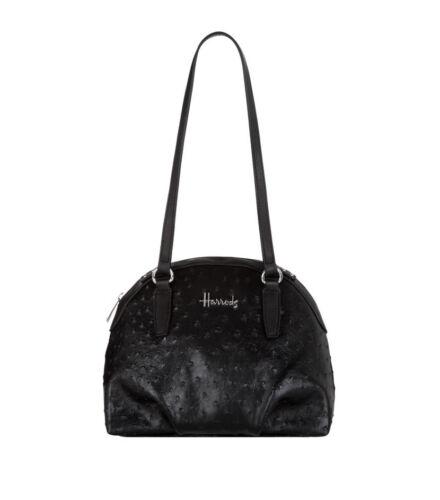 Harrods Senna Black Embossed Women/'s Shoulder Tote Handbag