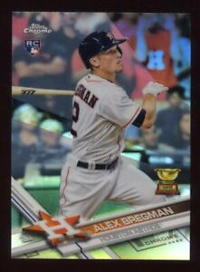2017-Topps-Chrome-ALEX-BREGMAN-Logo-Rookie-Card-RC-REFRACTOR-9-Houston-Astros