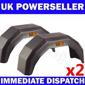 2-x-Plastic-Mudguard-Arch-Mud-Guard-LARGE-Trailer-Wheel