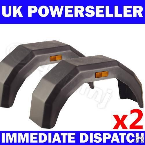 2 x Plastic Mudguard Arch Mud Guard LARGE Trailer Wheel