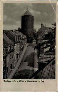 Freiberg Sachsen alte Ansichtskarte ~1940/45 Blick auf Donatstor und Donatsturm