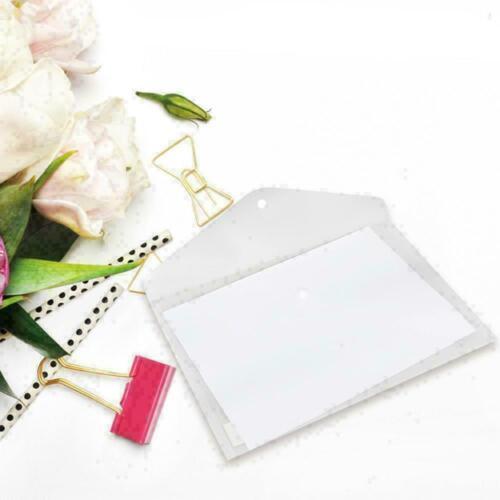 A4 File Folder Transparent Document Paper Organizer T8G8 Bag New Office W4B9