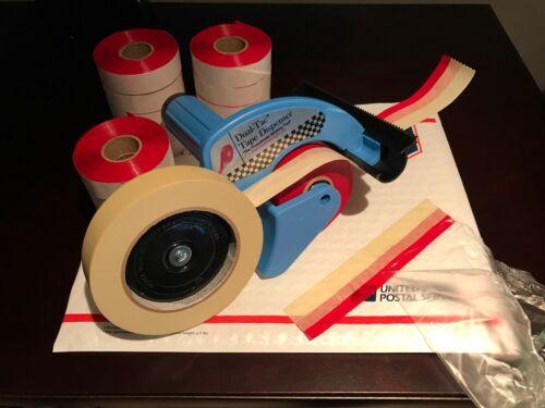 Genuine Dual Tac Tape® & Dispenser Combo - 24 Rolls w/ Free Shipping