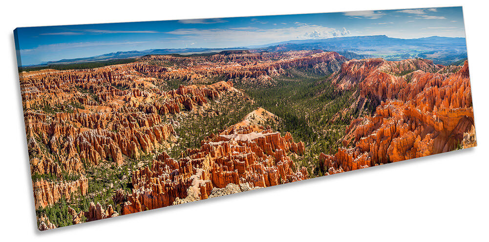 Bryce Canyon Utah Landscape Framed PANORAMA CANVAS Drucken Wand Kunst