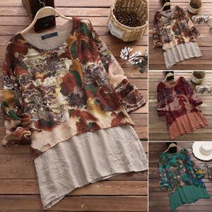 ZANZEA-8-24-Women-Long-Sleeve-Chinese-Painting-Printed-Top-Tee-T-Shirt-Blouse