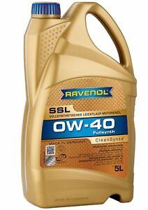 ravenol ssl 0w40 motor oil 5l bmw ll 01 mb 229 5 porsche. Black Bedroom Furniture Sets. Home Design Ideas