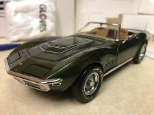 1/24 Franklin Mint Green 1970 Corvette LT1 LT-1 Convertible S11E668  #307