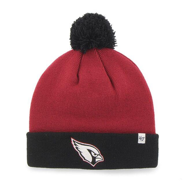 bd70cba7a NFL 47 Brand Bounder Beanie Knit Hat with Pom (OSFM, Arizona Cardinals)