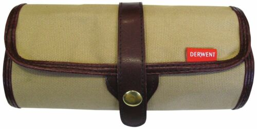 Derwent Pencil Wrap Canvas Storage Travel Roll Case for Artists Empty