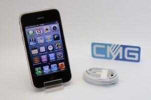 Apple-iPhone-3GS-8GB-Schwarz-Ohne-Simlock-A1303-GSM-neuwertiger-Zustand