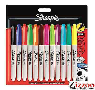 SHARPIE MARKER PENS PERMANENT FINE POINT PACK OF 12 - ASSORTED - 3000 + SOLD!