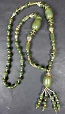 Buddha Sacred REAL JADE / JADEITE BEAD NECKLACE from NEPAL. Top quality jade.