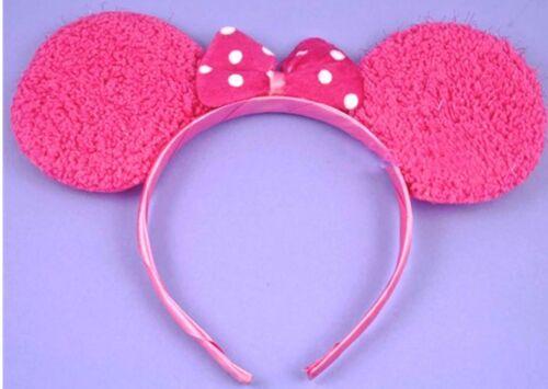 Ratón Mouse Rosa Oídos Orejas para Mujer Chicas Disfraz Orejas Minnie Mouse Vestido de fantasía