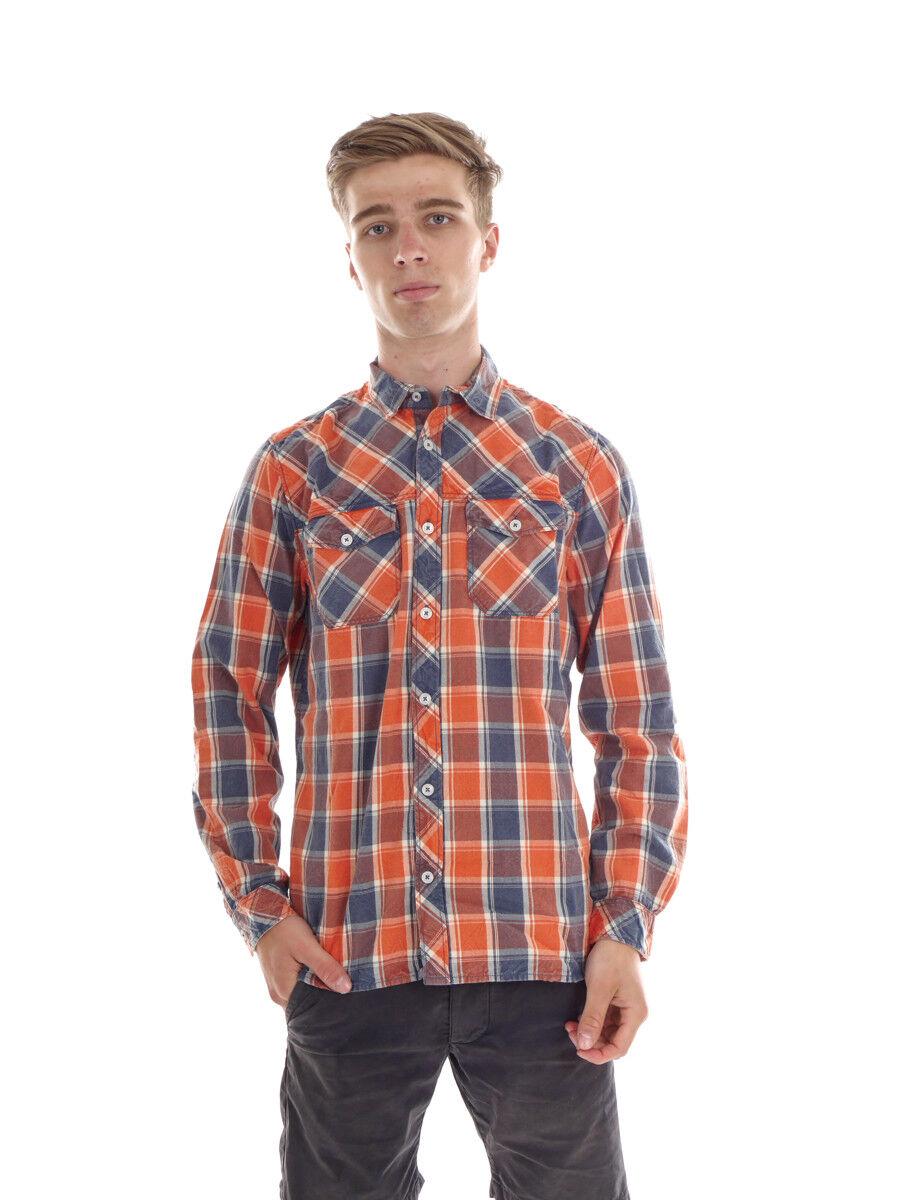 O´Neill Hemd Freizeithemd Langarmhemd So Call orange kariert Used Look