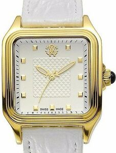 New-Ladies-Roberto-Cavalli-Swiss-Made-White-Square-Dial-Venom-Luxury-Dress-Watch