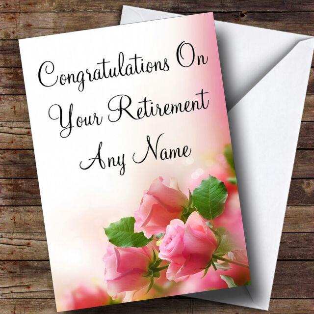 soft pink pastel roses personalised retirement greetings card ebay