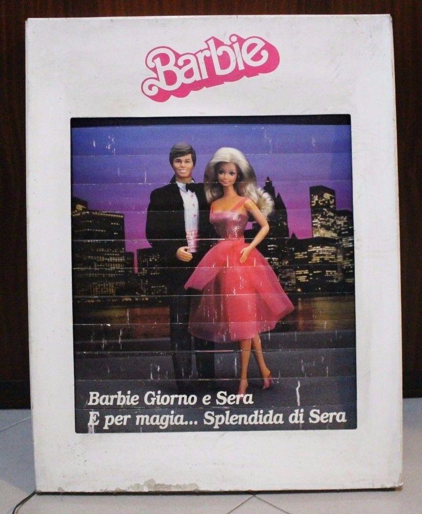 Barbie Cartellone Elettrico Giorno & Sera 1985 Day & Night Billboard vintage HTF