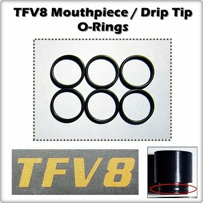 TFV8 BIG BABY Drip Tip ORing O-Rings smok Seals 6 Mouthpiece Orings