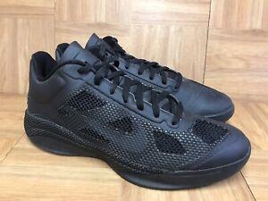 RARE-Nike-Zoom-Hyperfuse-Low-Blackout-Triple-Black-Shoes-Sz-11-5-429614-003