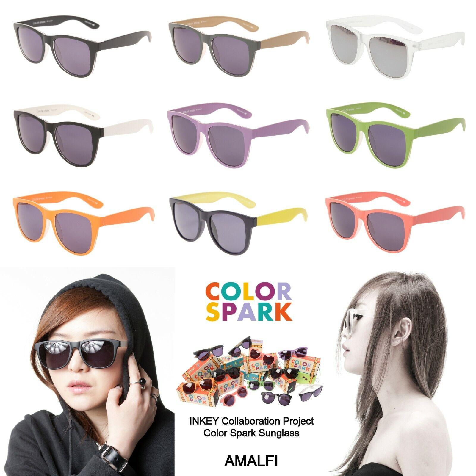 INKEY COLOR SPARK Amalfi Sunglasses Trendy Fashion Eyewear Black Lens Designer