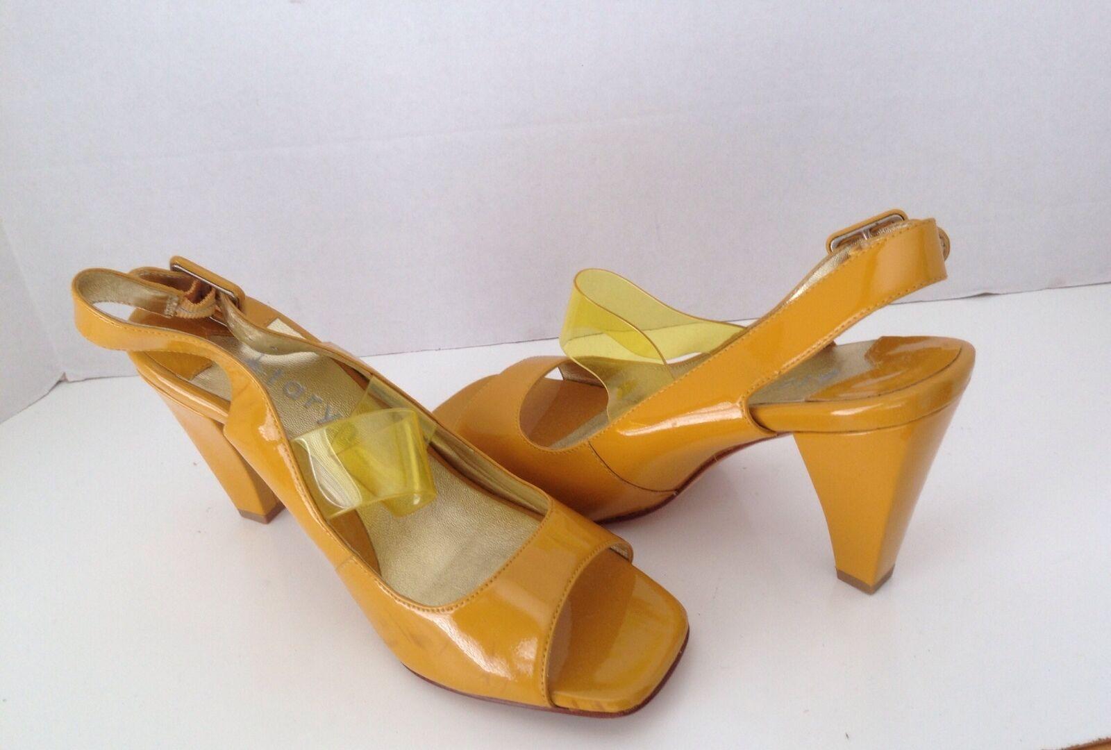 Taryn Taryn Rosa Gelb Patent Open Toe Slingback Sandals Sandals Sandals 8 776001