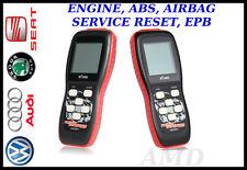 Volkswagen Audi Seat Skoda Handheld Scanner Fault Code Reader ABS AIRBAG ENGINE