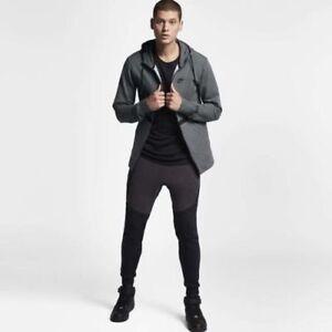 4ec0dbfda966 Details about Nike Sportswear Air Force 1 Men s Full Zip Hoodie XL Gray  Black AF1 Gym New