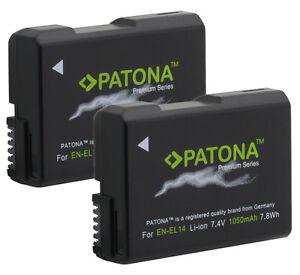 2-x-Patona-Premium-Akku-fuer-Nikon-D3200-D3300-D5100-D5300-D5500-EN-EL14