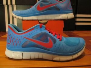 outlet store 0b2a5 c1eef Details about RARE NEW Nike Free Run 3 Blue Glow Red Platinum 3M 10 510642  403 Running Walking