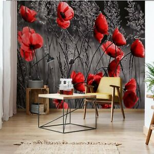 Wall Mural Photo Wallpaper Picture EASY-INSTALL Fleece Flowers Bouquet Black New