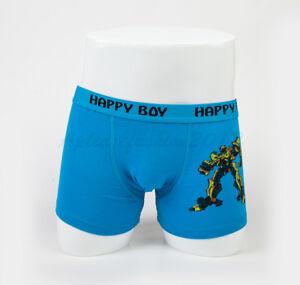 5pc Size 3 2-4 years Comfort Cotton Boys Boxers Briefs Robot Kids Underwear