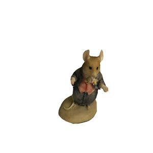 Enesco-Jill-Barklem-Brambly-Hedge-Dusty-Dogwood-Groom-Figurine-697753-VTG-1989