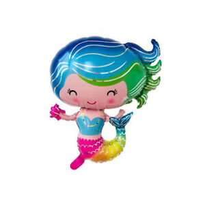Sirene-ballons-fete-d-039-anniversaire-decor-enfants-fournitures-de-Noel-IHS