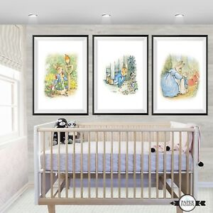 Peter Rabbit Nursery Decor Wall Prints