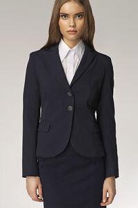 Z01 Femme 44 42 40 38 Nife De Costume Marine Veste Tailleur Mode Bleu 36 FA0xnHI