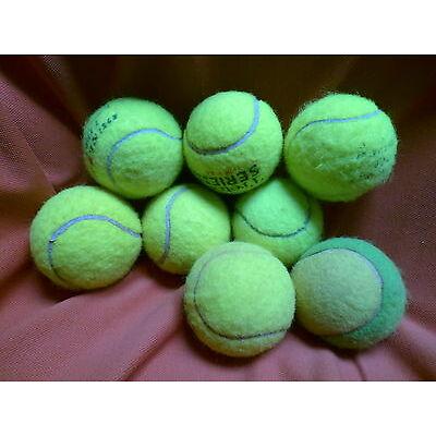 8 gebrauchte Tennisbälle