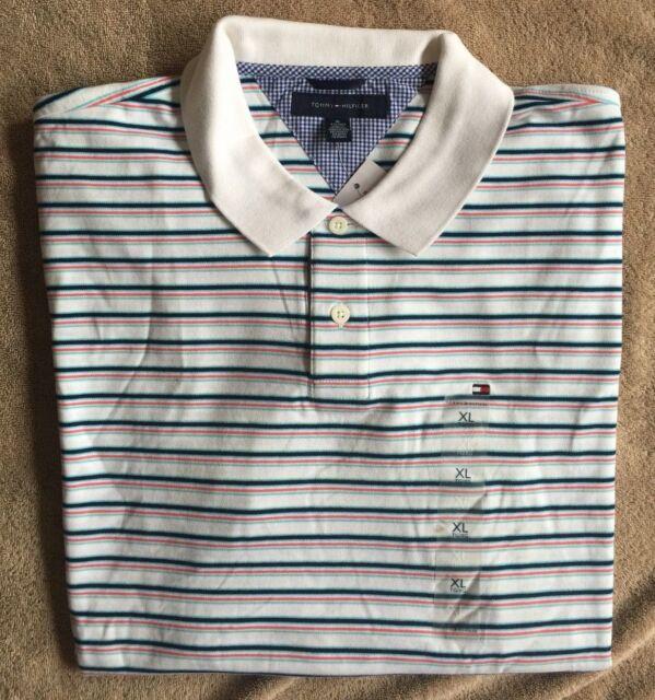 Navy Pick Size Tommy Hilfiger Men's Classic Short Sleeve Polo Shirt Blue Stripe