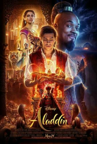 "Aladdin 2019 Disney Live Action Movie Poster Art Print 13x20/"" 24x36/"" 27x40/"""