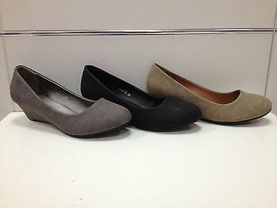 Premuroso Femmes Chaussures Escarpins Compensée Neuf Noir Gris Taupe T36/41 Ref 2026-2