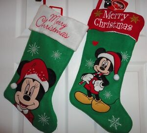 image is loading disney christmas stockings minnie mickey tinkerbell princess new