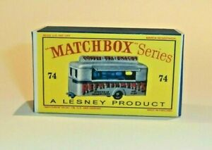 Matchbox-Lesney-No-74-MOBILE-CANTEEN-Empty-Repro-Box-style-D