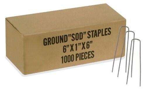 prendiamo i clienti come nostro dio NEW NEW NEW 1000 6  SOD Staples Dog Fence,Landscape,Fabric Pins 11 gauge FREE SHIP  moda