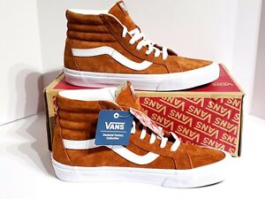 Vans SK8-Hi Reissue Pig Suede Leather Brown VN0A2XSBU5K Mens Size 10 ... 83006a488