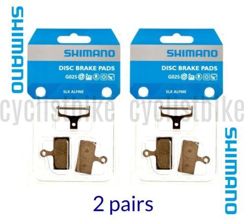 2 pairs Shimano SLX ALFINE G02S Resin Disc Pads w//Spring For XTR//XT//SLX NIB
