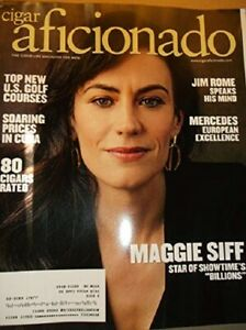 Details About Cigar Aficionado August 2017 Maggie Siff Free Shipping